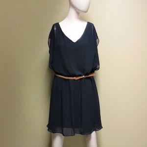 Women's Navy Blue By & By Sleeveless Dress Sz Lrg